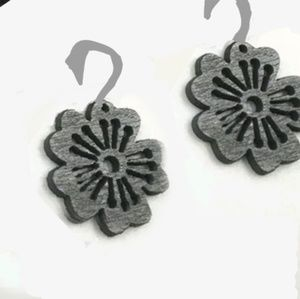 Black wood earrings